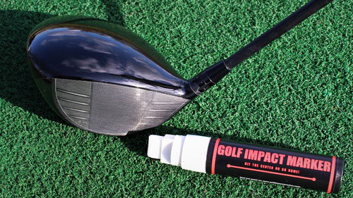 golf impact-marker before use
