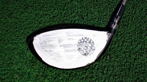 golf impact marker practice shot